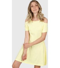 vestido amarillo donadonna ve2020