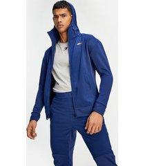 tommy hilfiger men's lightweight warm up hoodie blue ink - s