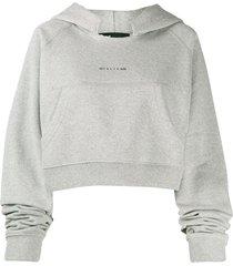 1017 alyx 9sm cropped raglan hoodie - grey