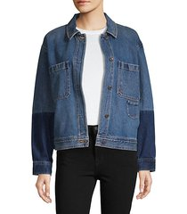 colorblocked jean jacket