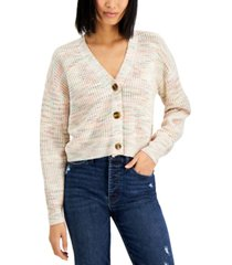 hooked up by iot juniors' cropped cardigan sweater