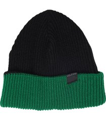 gorro volcom stan preto/verde