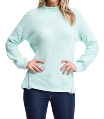 fever mock-neck zipper-trim sweater
