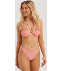 na-kd swimwear högt skuren bikinitrosa - pink