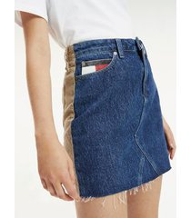 tommy hilfiger women's denim and cord skirt denim / tan corduroy - 31