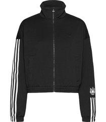 adicolor 3d trefoil track jacket w sweat-shirt tröja svart adidas originals