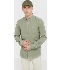 only & sons onsatlas life ls dyed tencel shirt skjortor grön