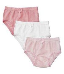 kit 6 calcinhas infantil malha luna 038/138 rosa