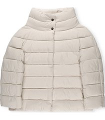 herno padded down jacket with coordinated gloves