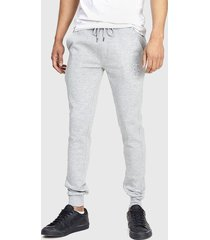 pantalón jogger brave soul gris - calce ajustado