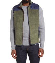 men's peter millar fleece vest, size x-large - blue