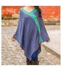 knit poncho, 'twilight' (peru)