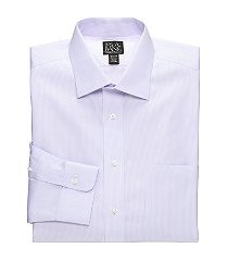 traveler collection tailored fit spread collar mini stripe dress shirt - big & tall, by jos. a. bank