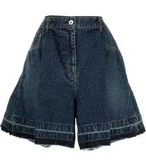 sacai wide-leg denim shorts