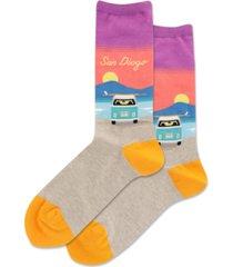 hot sox women's san diego novelty crew socks