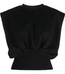 3.1 phillip lim sleeveless sweatshirt top - black