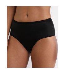 calcinha caleçon cintura alta compressão preta