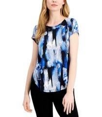 alfani knit print t-shirt, created for macy's