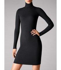 vestiti merino rib dress - 8598 - xs