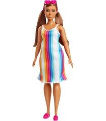 barbie loves the ocean rainbow stripe dress