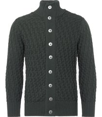 s.n.s herning safe green stark cardigan 678-cd8-u5503