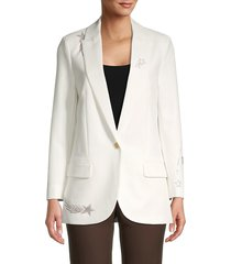 zadig & voltaire women's viva shooting star blazer - cream - size 40 (l)