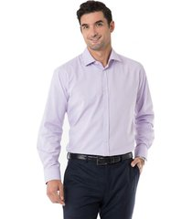 camisa formal texturada lila arrow