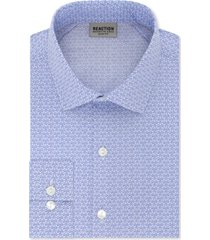 kenneth cole reaction men's slim-fit all-day flex print dress shirt