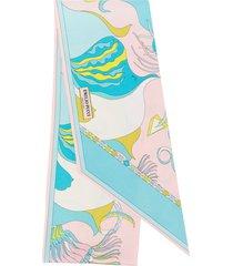 emilio pucci mirabilis print silk-twill scarf - pink