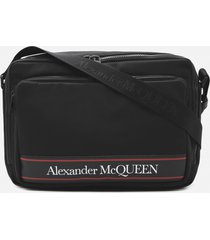 alexander mcqueen cotton messenger bag with contrasting logo