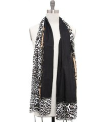 inc leopard buckle border pashmina, created for macy's