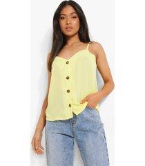 petite geweven hemdje met knopen, yellow