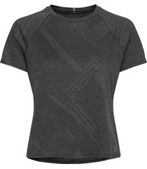 q speed fuel jacquard ss t-shirts & tops short-sleeved svart new balance