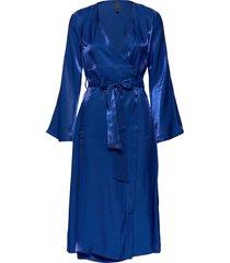 yaskima ls midi dress ft knälång klänning blå yas