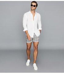 reiss otis - tailored check shorts in multi, mens, size 36