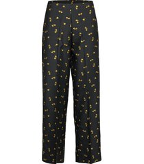 eimy trousers pantalon met rechte pijpen zwart second female