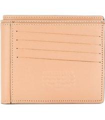 maison margiela reversible bi-fold wallet - neutrals