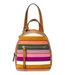 fossil women's megan mini leather backpack