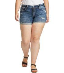 silver jeans co. plus size suki denim shorts
