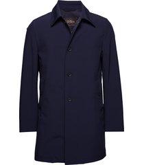 johnsson coat trenchcoat lange jas blauw oscar jacobson
