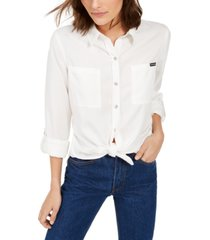 calvin klein jeans tencel button-down shirt