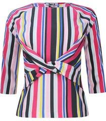blusa cruce en frente color negro, talla 8