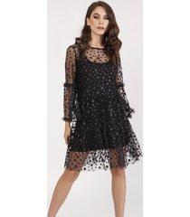 sukienka z tiulowej siateczki