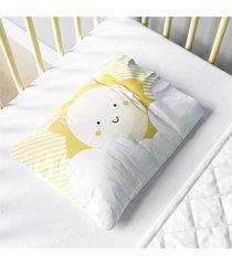 fronha beb㪠nuvem de algodã£o e sol amarelo grã£o de gente amarelo - amarelo - dafiti