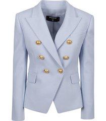 balmain 8 button pique blazer