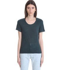 isabel marant étoile kiliann t-shirt in petroleum linen