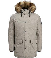 parka jas jack & jones 12174383 jjsky parka jacket light grey melange