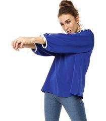 blusa azul emmao sobi