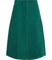 anais skirt knälång kjol grön résumé