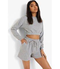 tall trainingspak met sweater en shorts, grey